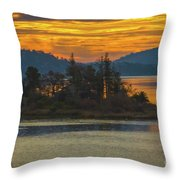 Clearlake Gold Throw Pillow