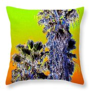 Clearlake Palm Trees Throw Pillow