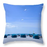 Clearwater Beach Florida Shelters Throw Pillow