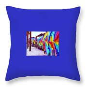 Clearwater Beach Pier 60 Throw Pillow
