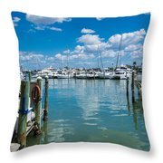 Clearwater Marina Throw Pillow