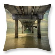 Clearwater Pier Throw Pillow
