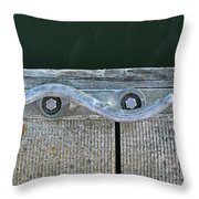 Cleat On A Dock Throw Pillow