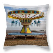 Cleethorpes Beach Throw Pillow