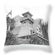 Cleft Of The Rock Lighthouse Throw Pillow