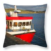Cleggan Pier, Connemara County Galway Throw Pillow