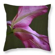 Clematis Breeze Throw Pillow
