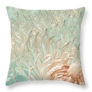 Clematis Center - Retro Abstract Throw Pillow
