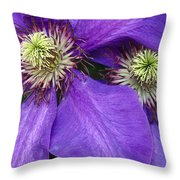 Clematis Detail Throw Pillow