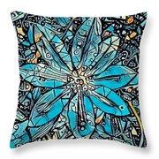 Clematis In Blue Fantasia Throw Pillow