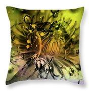 Clematis Magic Throw Pillow