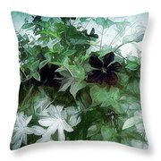 Clematis On The Vine Throw Pillow