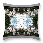 Clematis Sky Window Throw Pillow