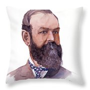 Clement Cornwall Portrait Throw Pillow