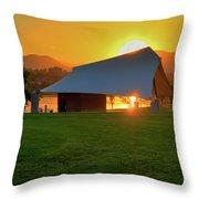 Clement Park Sunset Throw Pillow