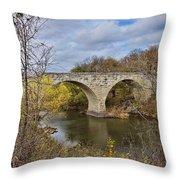 Clement Stone Arch Bridge Throw Pillow