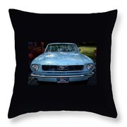 Clemson Tigers Ford Mustang Throw Pillow
