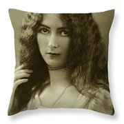 Cleo De Merode Throw Pillow