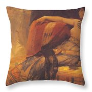 Cleopatra Preparatory Study For Cleopatra Testing Poisons On The Condemned Prisoners Throw Pillow