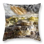 Cleopatra Terrace In Yellowstone National Park Throw Pillow