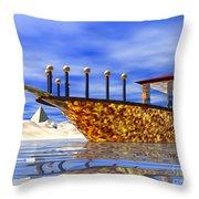 Cleopatra's Barge Throw Pillow