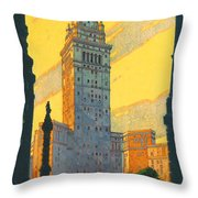 Cleveland - Vintage Travel Throw Pillow