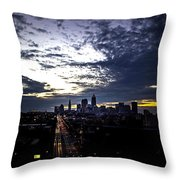 Cleveland At Dusk Throw Pillow