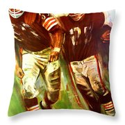 Cleveland Browns 1965 Cb Helmet Poster Throw Pillow