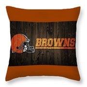 Cleveland Browns Barn Door Throw Pillow