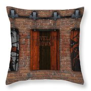 Cleveland Browns Brick Wall Throw Pillow