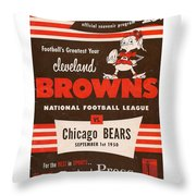 Cleveland Browns Vintage Program 5 Throw Pillow