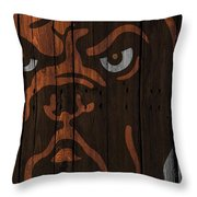 Cleveland Browns Wood Fence Throw Pillow