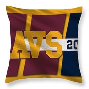 Cleveland Cavaliers Flag2 Throw Pillow