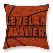 Cleveland Cavaliers Leather Art Throw Pillow