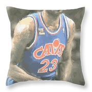Cleveland Cavaliers Lebron James 1 Throw Pillow