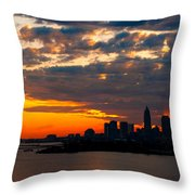 Cleveland Dawn Throw Pillow