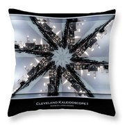 Cleveland Kaleidoscope I Throw Pillow