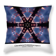 Cleveland Kaleidoscope II Throw Pillow