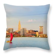 Cleveland On The Lake Throw Pillow