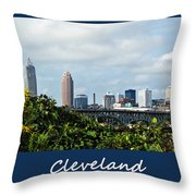 Cleveland Poster Throw Pillow