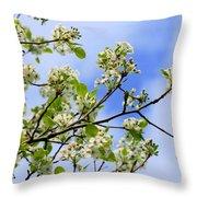 Flowering Pear Throw Pillow