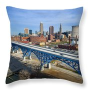 Cleveland Skyline #1 Throw Pillow