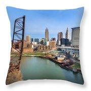 Cleveland Skyline #2 Throw Pillow