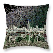 Cleveland Skyline Abstract 4 Throw Pillow