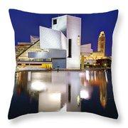 Cleveland Skyline At Dusk Throw Pillow