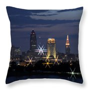 Cleveland Starbursts Throw Pillow