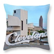 Cleveland Updated View Throw Pillow