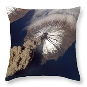 Cleveland Volcano, Iss Image Throw Pillow