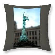 Cleveland War Memorial Fountain Throw Pillow