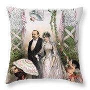 Clevelands Wedding, 1886 Throw Pillow